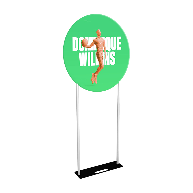 3ft EZ Tube Round Banner Stand(Steel Base)